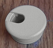 Grey Wire Grommets Nylon Plastic