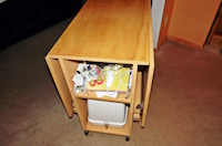 compact drop leaf sewing table