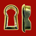 Keyholes and Keyhole Covers in Wood Brass and Nickel