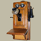 Oak Antique Telephone Parts