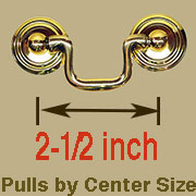 Drawer Pull 2-1/2 Centers