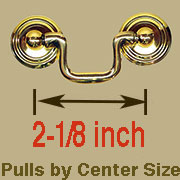 Drawer pull 2-1/8 Centers