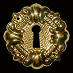 Stamped Brass Keyhole Covers