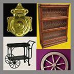 Hardware for Antique Trunks Stack Bookcases Tea Carts