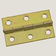 Brass Plated Butt Hinge 3 Inches Long  H-6663P