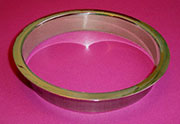 (C) 6x1 Inch Brushed Stainless Steel Trash Grommet Trim Ring HC-6143-100