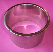 (F) 6x4 Inch Polished Stainless Steel Trash Management Grommet Trim Ring HC-6143-479