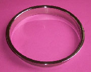 (H) 8x1 Inch Polished Stainless Steel Trash Grommet Trim Ring HC-6148-179