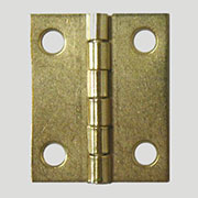 Brass Plated Steel Flat Butt Hinge D-1623
