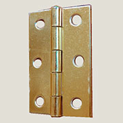 Brass Plated Butt Hinge 2-1/2 Inches Long H-666212P