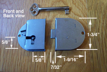 Half Mortise Door Lock, Left Hand Drawer or Door S-1827