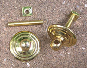 Drawer Pull Eye Bolt Backplates Pair Queen Anne Style B-0457 BM-1186PB