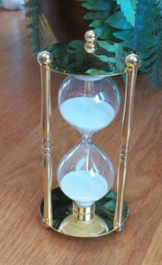 Polished Brass and Glass Hour Glass Timer UDA-100