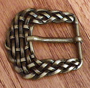 Antique Brass Basket Weave Belt Buckle OBC-1998ANTB