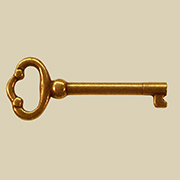 Antique Brass Plated Furniture Key BM-6529PAB