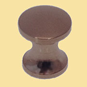 Knob for Bookcase Antique Brass 3/8 Inch Diameter