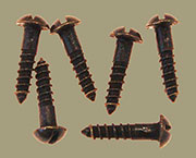Antique Brass Round Head Slotted Wood Screws 20 Count 5x5/8