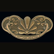 Victorian Drawer Pull in Antiqued Cast Brass 3 Inch Centers
