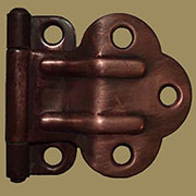 McDougall Foldback Cabinet Hinge in Antique Copper Pair