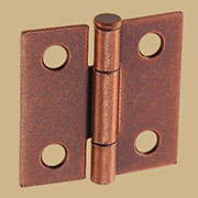 Pair of Loose Pin Copper Plated Butt Hinges