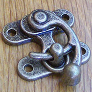 Antique Nickel Finished Purse Latch OBP-2127ANTN