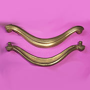 DISCONTINUED WILL NOT SHIP. Art Deco Drawer Pull Matte Brass TR-TA73D