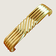 Art Deco Drawer Pull Brushed Brass Finish 3-1/2 inche centers LS-93 D-0662