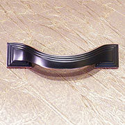 Deco Drawer Pull Art Deco in Bronze Finish P-3100-OBHHERSH