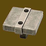 Handcrafted Pewter Iron Pull Arts and Crafts Drawer Pull Knob 1-1/2 Inches Square HRSH-65177PI