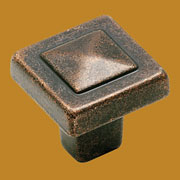 Mission Style Arts and Crafts Rustic Bronze Pyramid Knob