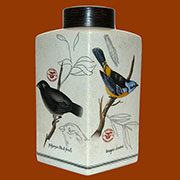 Audubon Porcelain Jar by Homart HA-7043-70