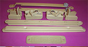 A Baby Crib Bed Gate Hardware Set 9 Piece Set in Beige Tan KCRIBBEIGE