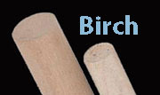 1/8 Inch Diameter by 3 foot long  Birch Dowel Rod W1-6602