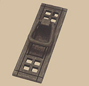 Black Iron Mission Style Arts and Craft Drawer Pull Vertical