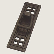Black Iron Mission Style Arts and Craft Drawer Pull Vertical PN-8006