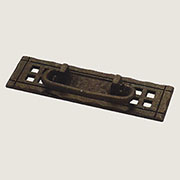 Black Iron Mission Style Arts And Craft Drawer Pull Horizontal