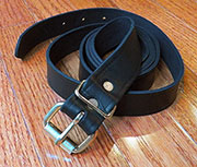 Leather Trunk Strap Keeper BLACK
