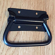 Metal Trunk Handle Black Powder Coat for Chest RH-0540BK