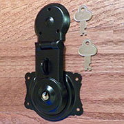 Black Powder Coated Trunk Lock OBG-1BK
