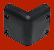 Trunk Corner Black Plastic for Amps  RH-1642