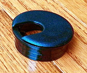 1-3/4 Hole Size Black Nylon Wire Grommet SPSWC51S