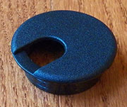 1-15/16 Hole Size Black Nylon Wire Grommet SPSWC60S