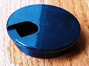 2-1/2 Inch Hole Diameter Black Plastic Wire Grommet 6740-14