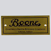 Boone Kitchen Cabinet Label Nameplate HBL-7