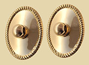 Drawer Pull Eye Bolt Backplates Pair Colonial Revival
