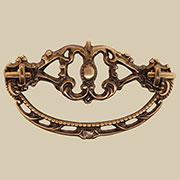 Antique Solid Cast Brass Victorian Drawer Pull BM-1106AB