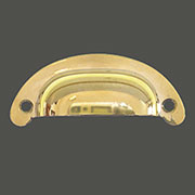 POLISHED BRASS PULL HANDLE HOOSIER  B1393