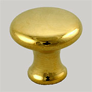 Knob for Bookcase Brass 5/8 Inch Diameter