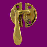 """Y"" Vintage Boone Cabinet Latch Brass BM-1641PB Flush Mounted Left Hand  KC-14 BM-1641PB"