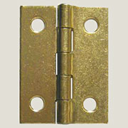 Brass Plated Steel Flat Butt Hinge 2 x 2-1/2 Inches D-1613